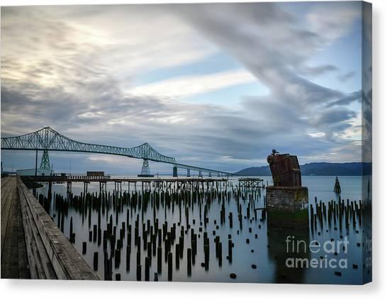 Overlooking The Bridge Canvas Print
