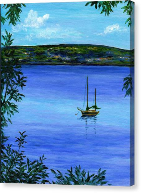 Overlooking The Hudson Canvas Print