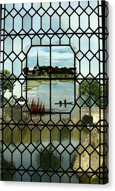 Overlooking The Loire Canvas Print by Mary McGrath