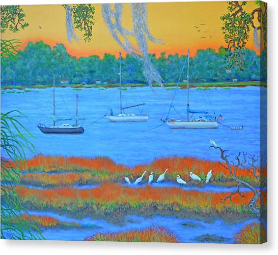 Overnight In Beaufort Canvas Print