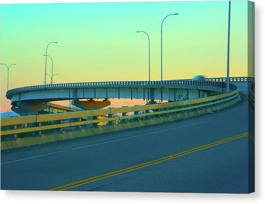 Overpass Canvas Print by Paul Kloschinsky