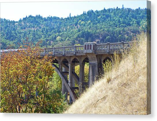 Overpass Underpinnings Canvas Print