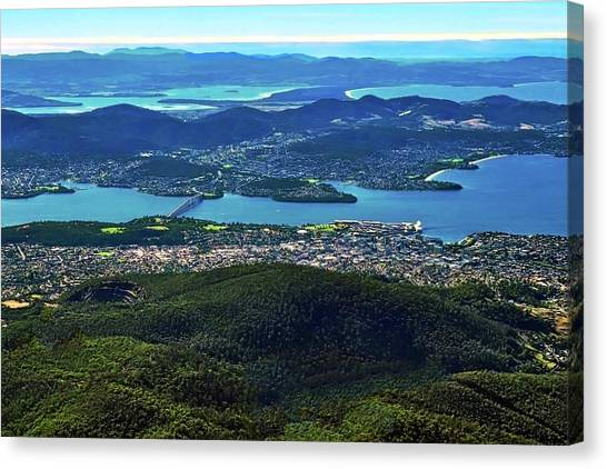Overview Of Hobart Tasmania Canvas Print