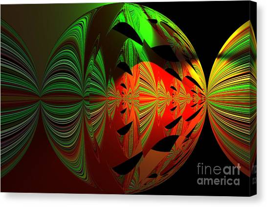 Art Green, Red, Black Canvas Print