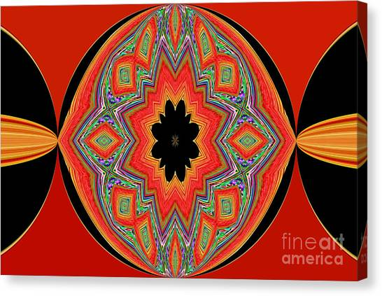 Unique And Colorful Orange Black Yellow Design Canvas Print