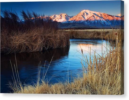 Owens River Sunrise Canvas Print by Nolan Nitschke