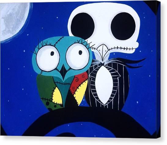 Owls Canvas Print - Owl Always Love You by Annie Walczyk