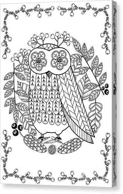 Simplistic Canvas Print - Owl by Anne Vasko