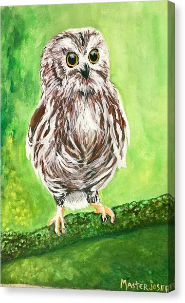 Owl Canvas Print by Anthony Masterjoseph