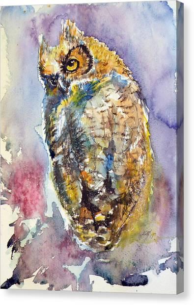 Owl At Night II Canvas Print