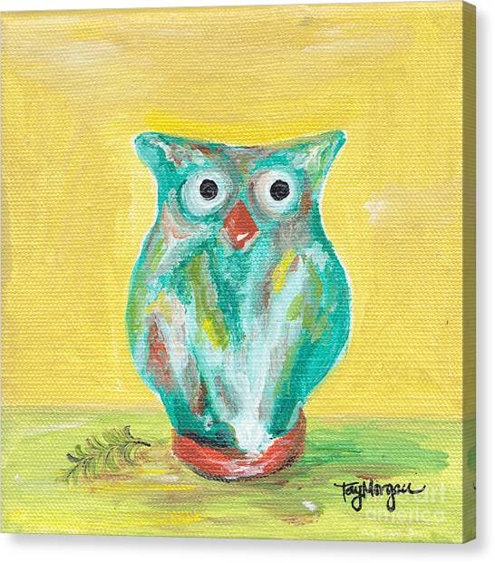 Chi Omega Canvas Print - Owl Baby by Tay Cossar Morgan