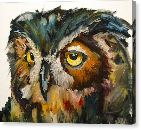 Owl Eye Canvas Print