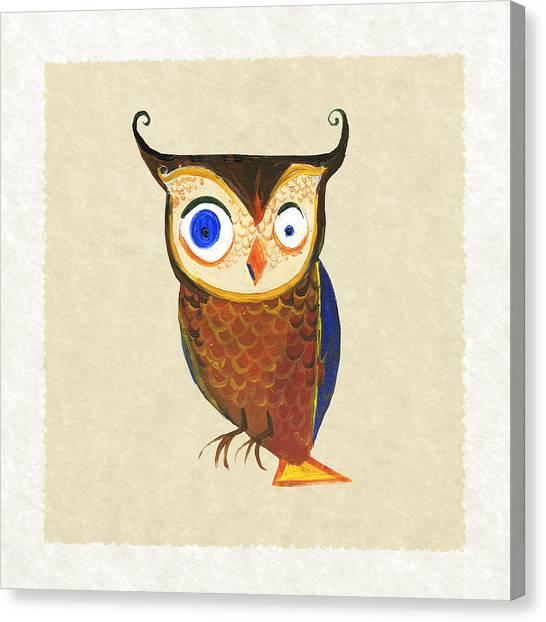 Large Birds Canvas Print - Owl by Kristina Vardazaryan