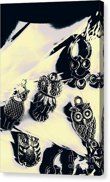 Metal Canvas Print - Owls From Blue Yonder by Jorgo Photography - Wall Art Gallery