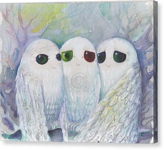 Owls From Dream Canvas Print