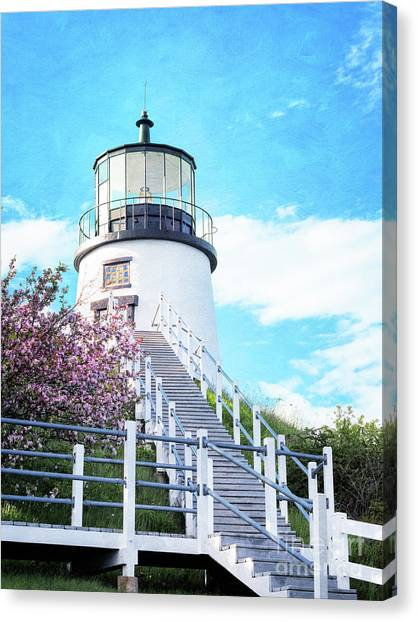 Owl's Head Light In Early June Canvas Print