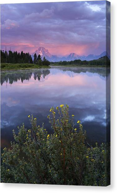 Oxbow Bend Canvas Print by Eric Foltz