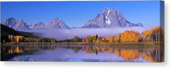 Teton Canvas Print - Oxbow Bend by Mikes Nature