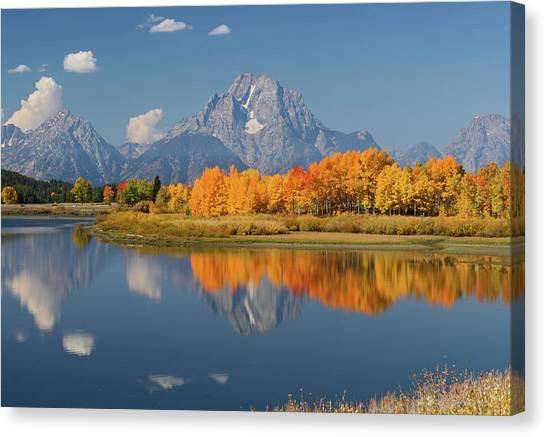 Oxbow Bend Reflection Canvas Print
