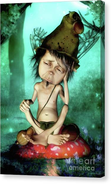 Worried Canvas Print - Oy Vey by Shanina Conway