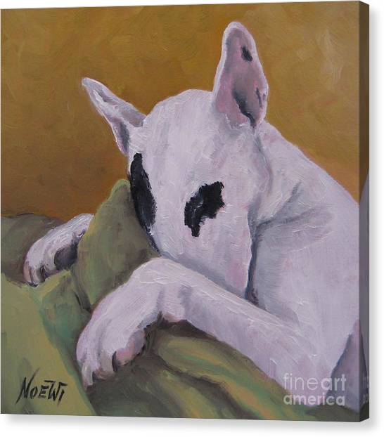 English Bull Dogs Canvas Print - Ozzi by Jindra Noewi