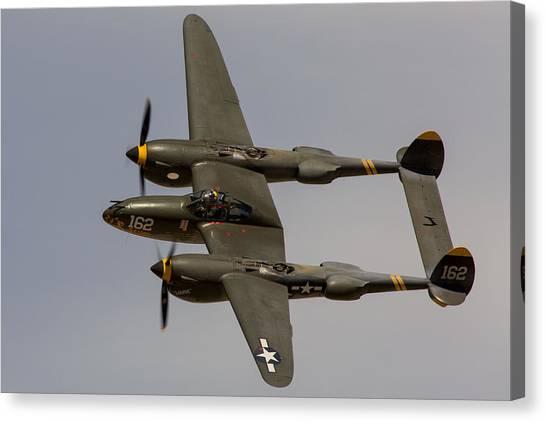 P-38 Skidoo Canvas Print