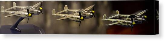 Toy Airplanes Canvas Print - P-38 Transform by Dr Charles Ott