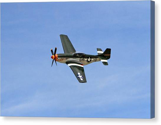 Wii Canvas Print - P-51 Flying High by Shoal Hollingsworth
