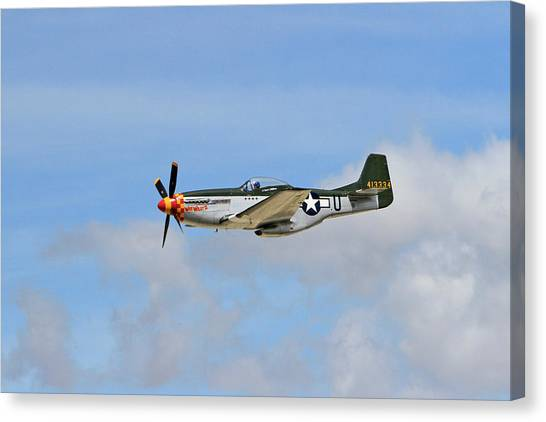 Wii Canvas Print - P-51 In The Clouds by Shoal Hollingsworth