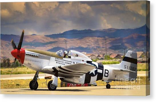 Spam Canvas Print - P-51 Mustang 'dolly'  by Gus McCrea