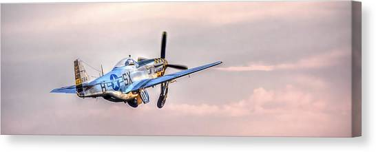 P-51 Mustang Taking Off Canvas Print