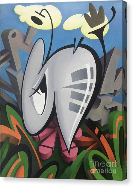 Buried Canvas Print - P. Bugg by Kevin J Graham