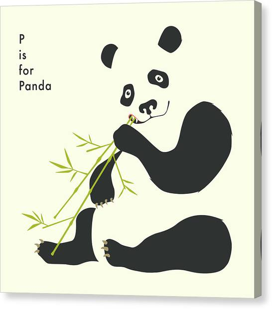 Panda Canvas Print - P Is For Panda by Jazzberry Blue
