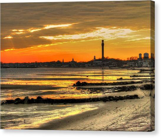 P Town Sunset Canvas Print
