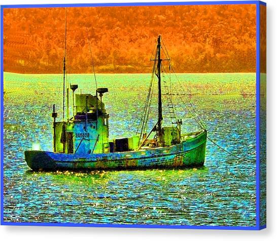 p1030865001d  Fishing  Boat Canvas Print by Ed Immar