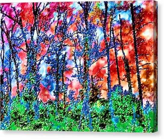 p1050894s Kancamagus on Fire Canvas Print by Ed Immar