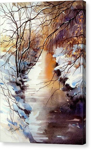Running Hot And Cold Canvas Print by Art Scholz
