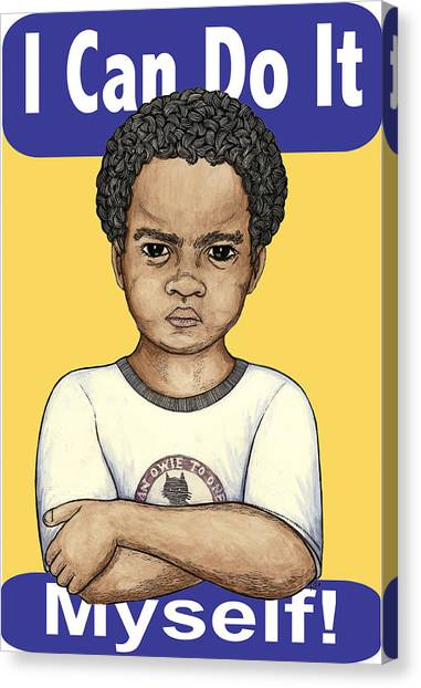 I Can Do It Myself Canvas Print by Ricardo Levins Morales