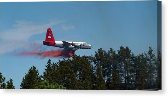 P2v Red Canyon Fire Canvas Print