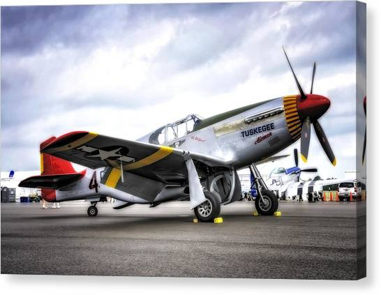 P51-c Mustang In Hdr Canvas Print