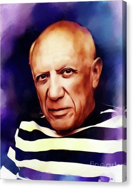 Pablo Picasso Canvas Print - Pablo Picasso, Artist by John Springfield