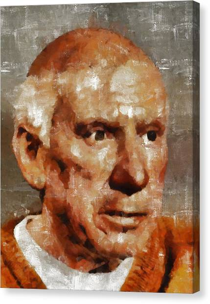 Pablo Picasso Canvas Print - Pablo Picasso, Artist by Mary Bassett