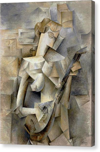 Pablo Picasso Girl With A Mandolin 1910 Canvas Print
