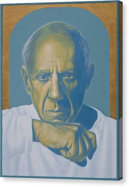 Pablo Picasso Canvas Print by Jovana Kolic