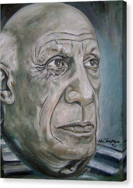 Pablo Picasso Canvas Print - Pablo Picasso by Martel Chapman