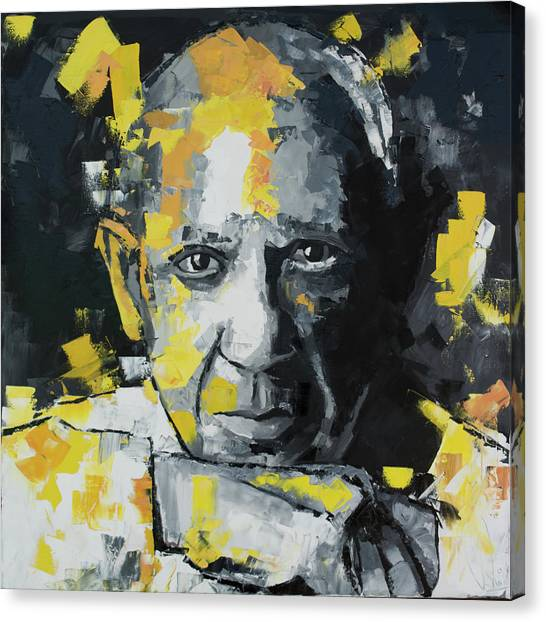 Pablo Picasso Canvas Print - Pablo Picasso Portrait by Richard Day