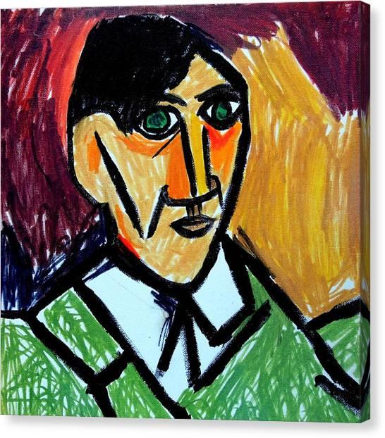 Pablo Picasso 1907 Self-portrait Remake Canvas Print