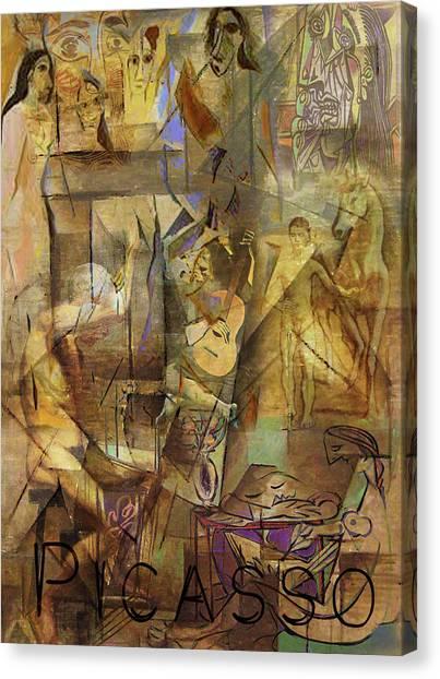 Pablo Picasso Canvas Print - Pablo's Playground by Greg Sharpe