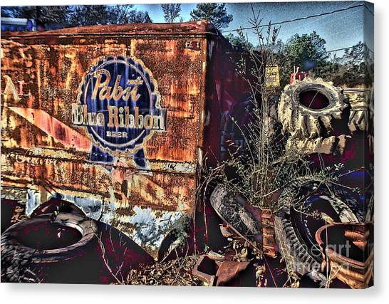 Jasper Johns Canvas Print - Pabst Blue Ribbon Delievery Truck by Corky Willis Atlanta Photography