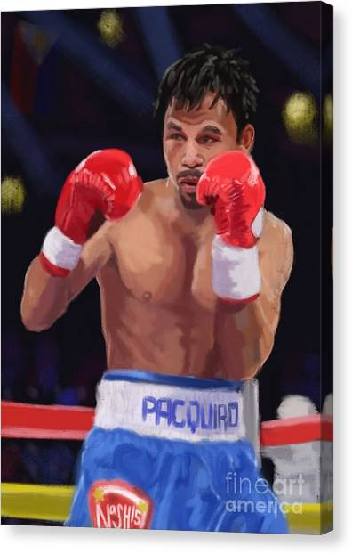 Manny Pacquiao Canvas Print - Pac Man by Jeremy Nash